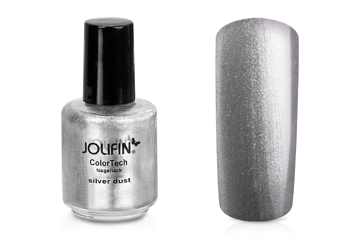 Jolifin ColorTech Nagellack silver dust 14ml