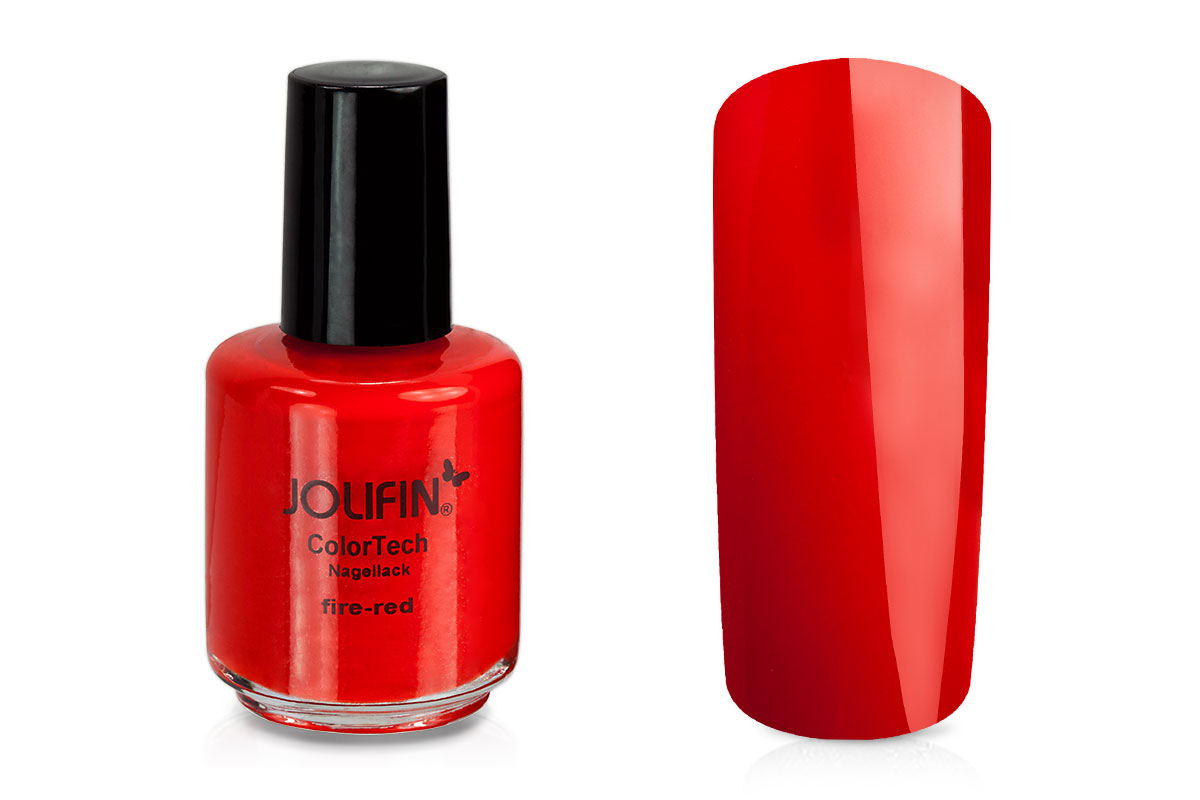 Jolifin ColorTech Nagellack fire-red 14ml