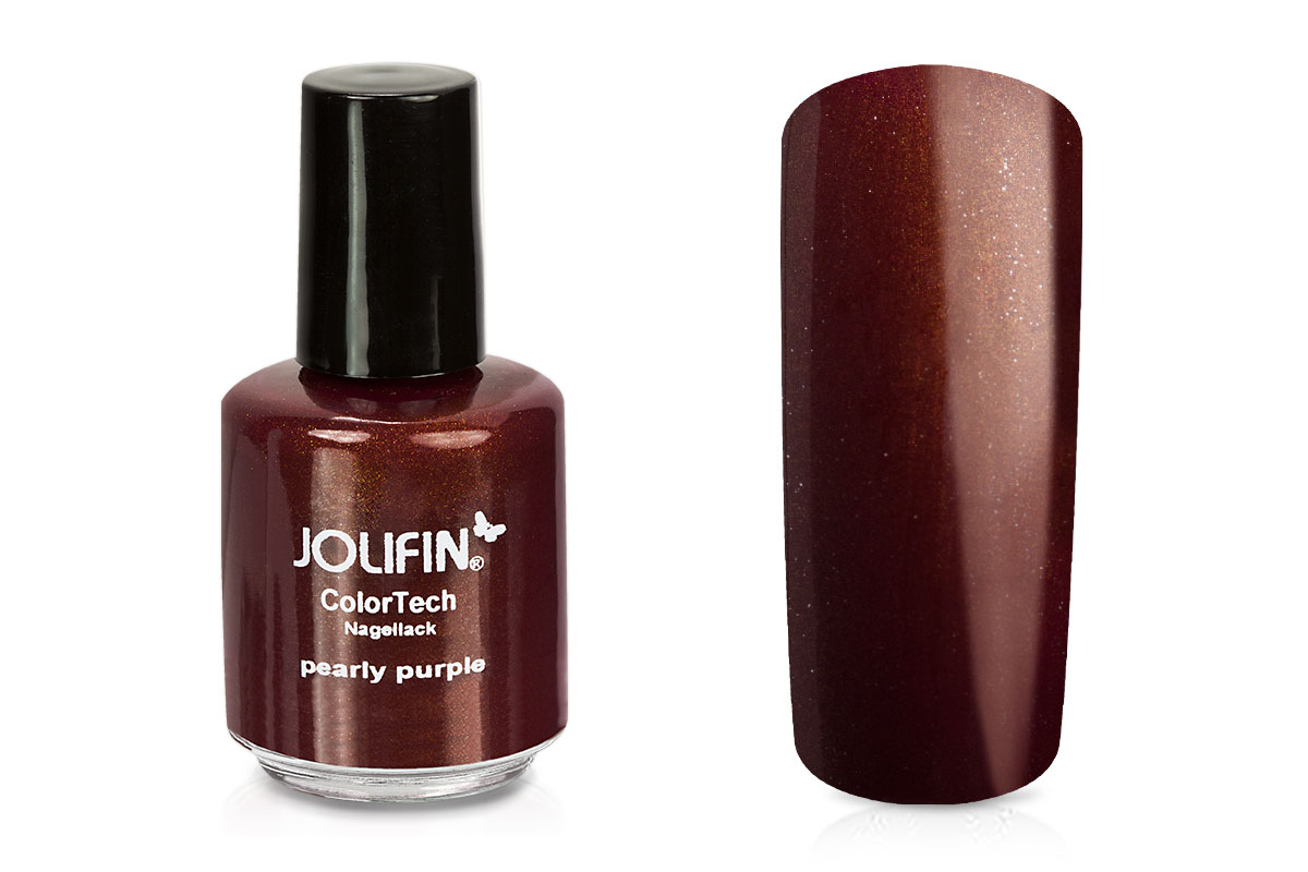 Jolifin ColorTech Nagellack pearly purple 14ml