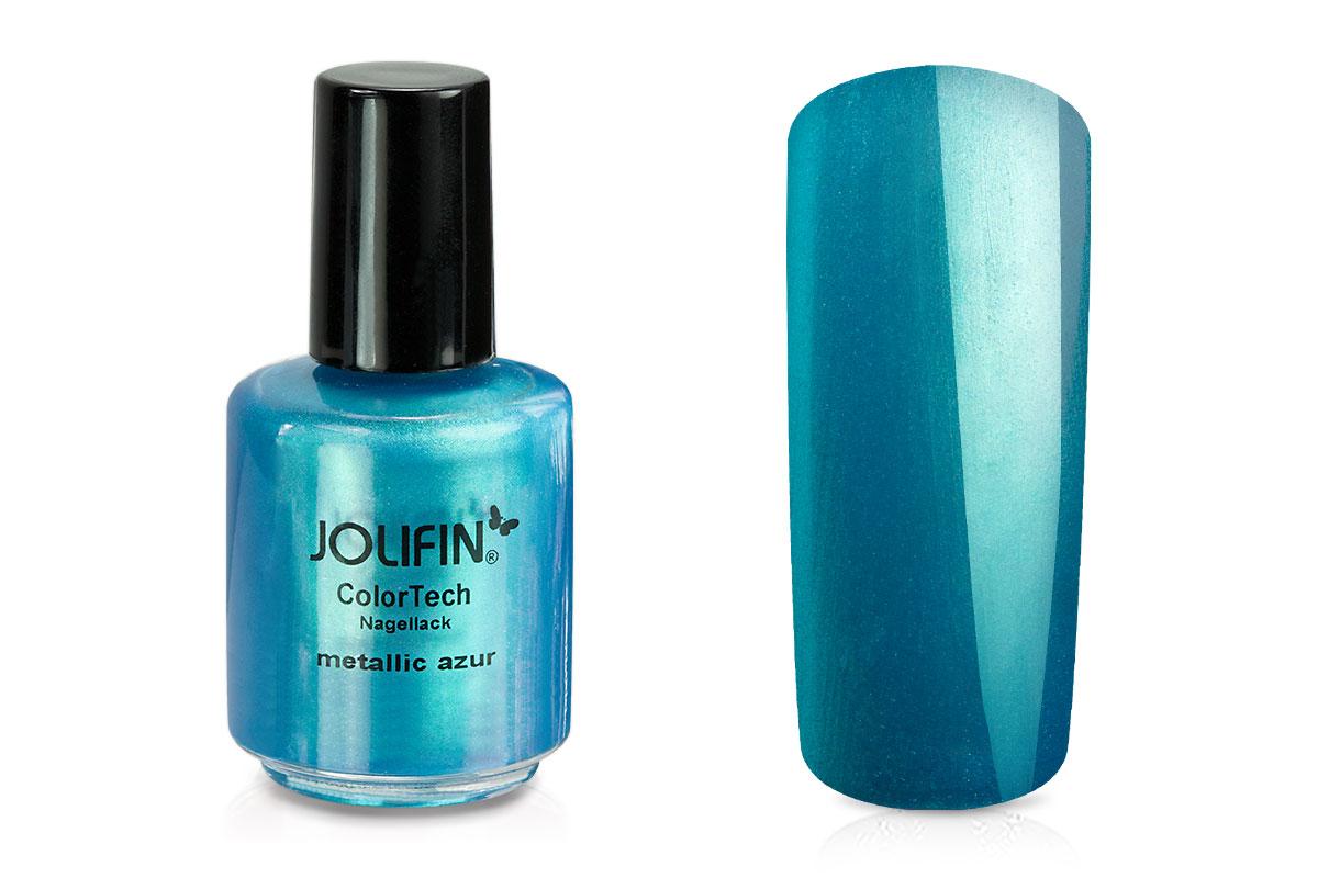 Jolifin ColorTech Nagellack metallic azur 14ml