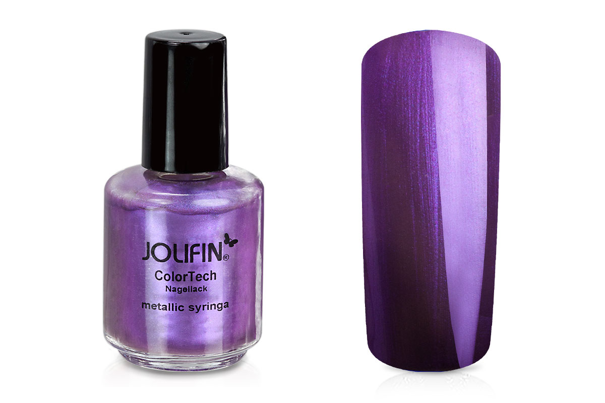 Jolifin ColorTech Nagellack metallic syringa 14ml