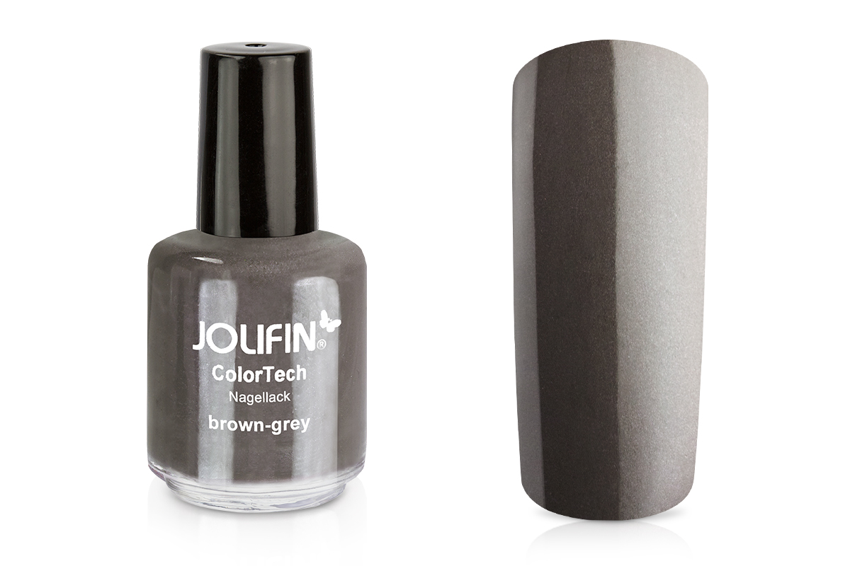 Jolifin ColorTech Nagellack brown grey 14ml