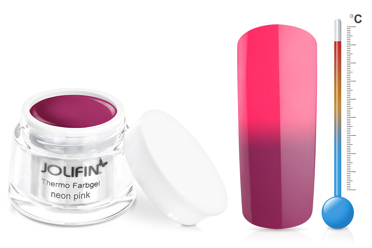 Jolifin Thermo Farbgel 4plus neon pink 5ml