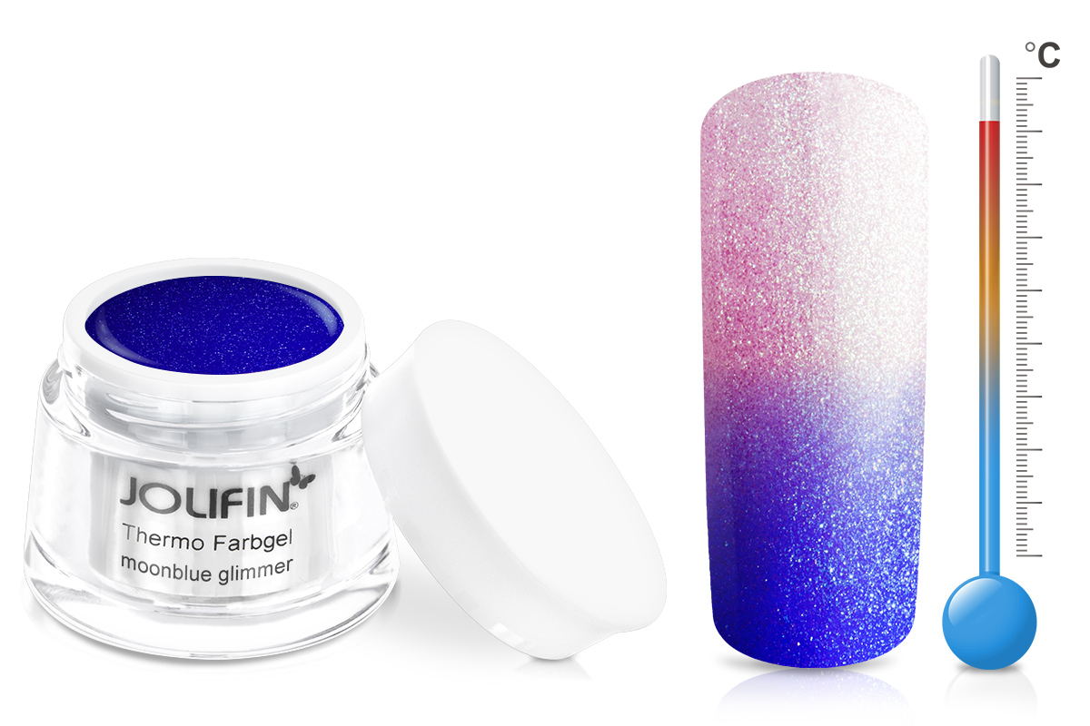 Jolifin Thermo Farbgel 4plus moonblue glimmer 5ml