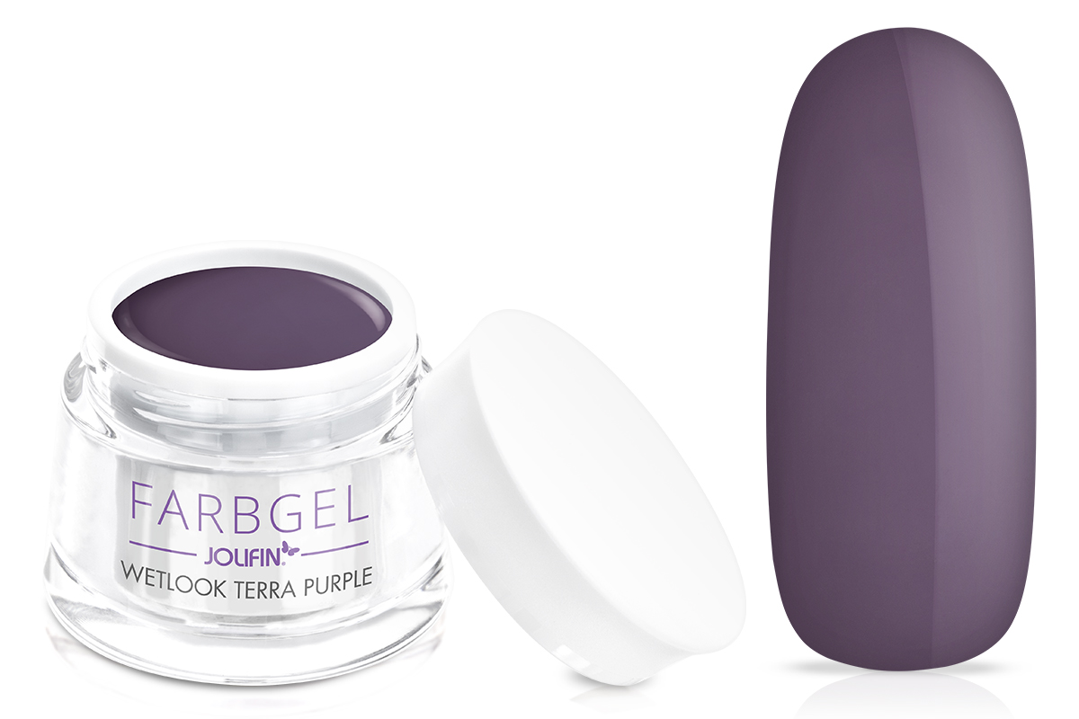Jolifin Wetlook Farbgel terra purple 5ml