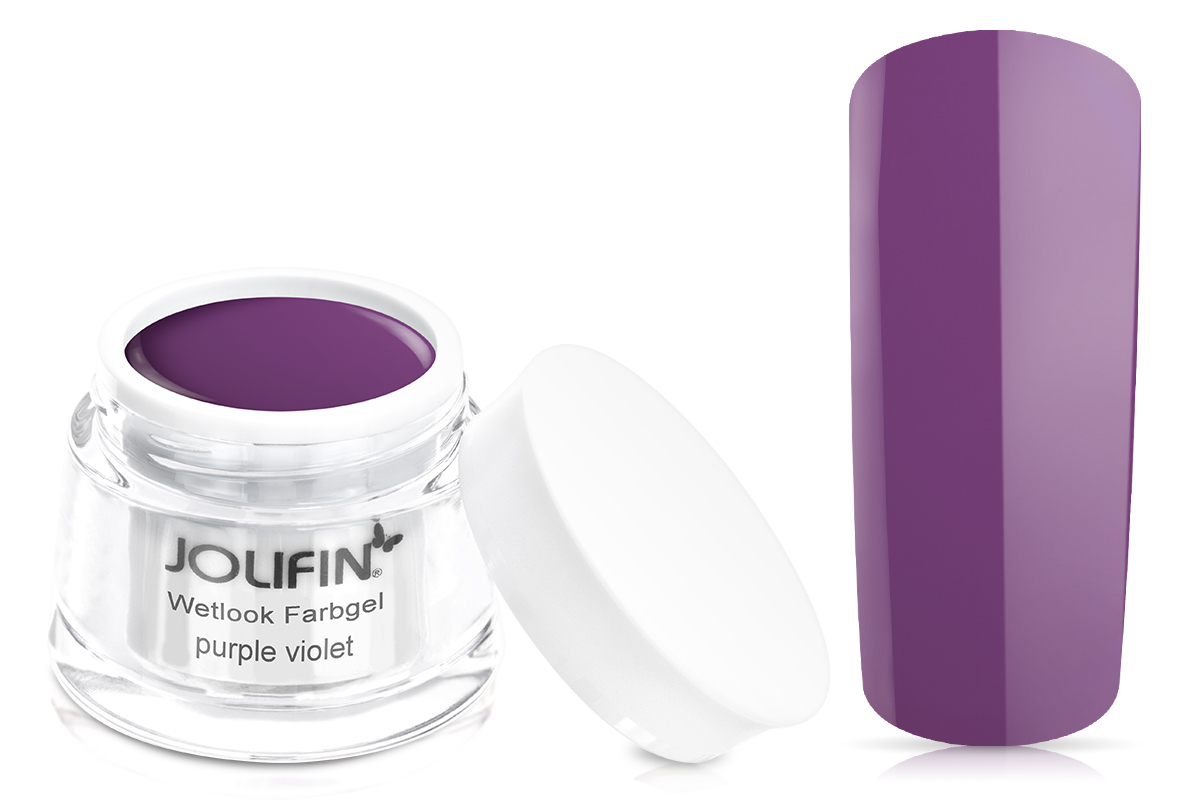 Jolifin Wetlook Farbgel 4plus purple violet 5ml