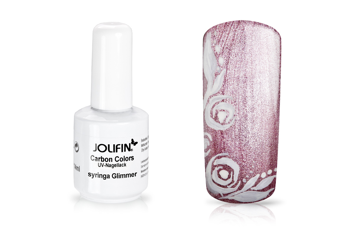 Jolifin Carbon Colors UV-Nagellack syringa Glimmer 11ml