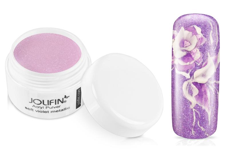 Jolifin Acryl Farbpulver soft violet metallic 5g