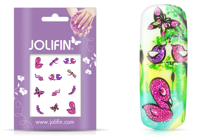Jolifin Glitter Nailart Sticker 26