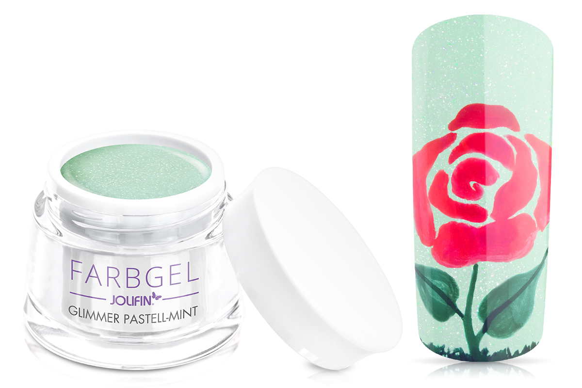 Jolifin Farbgel Glimmer pastell-mint 5ml