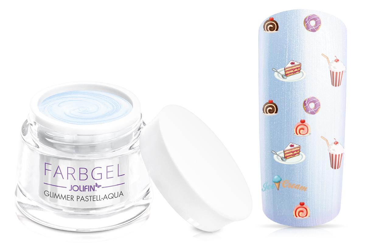 Jolifin Farbgel Glimmer pastell-aqua 5ml