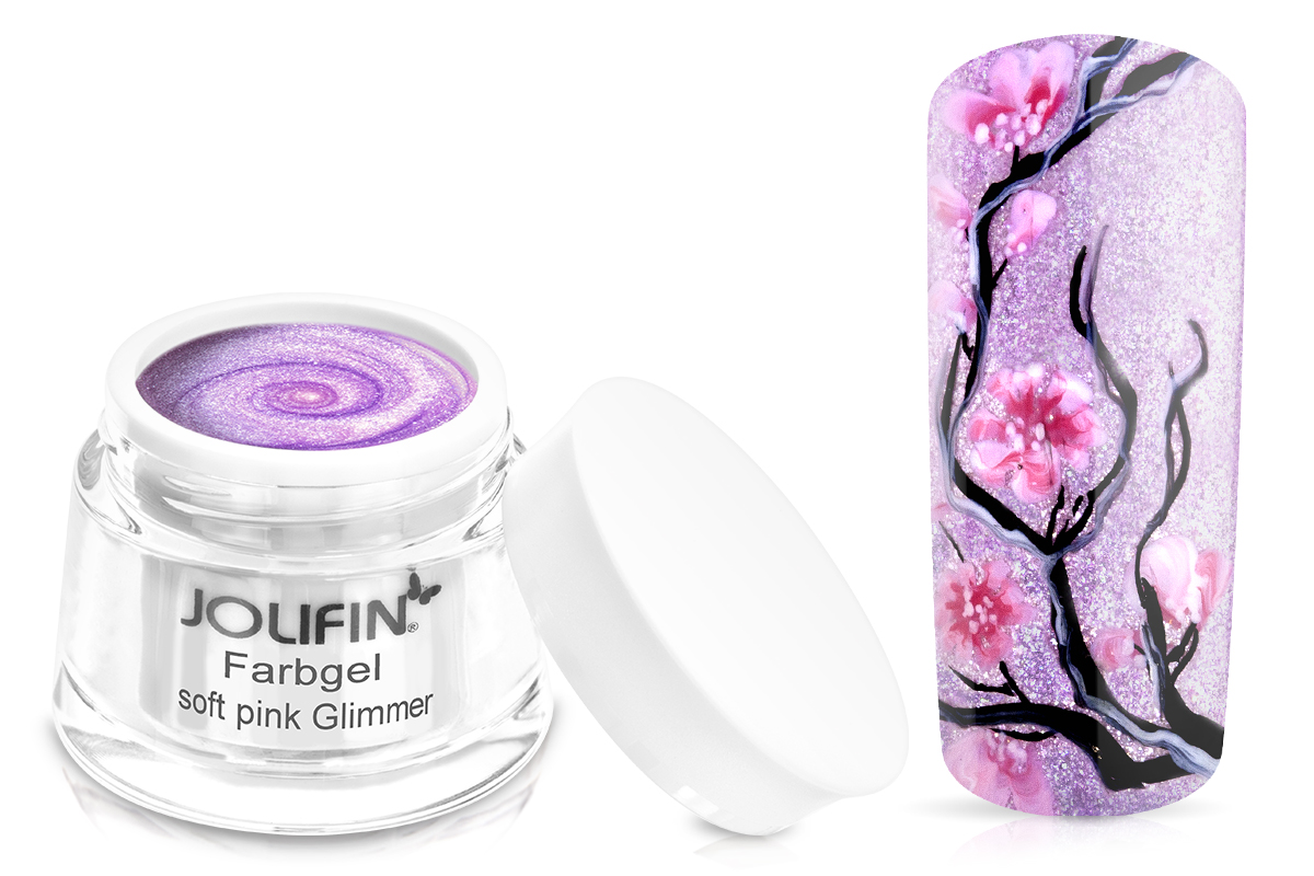 Jolifin Farbgel Soft Pink Glimmer 5ml