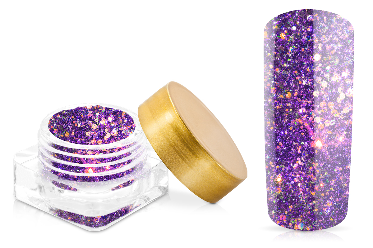 Jolifin Illusion Glitter I Rainbow Purple