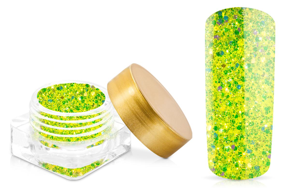 Jolifin Illusion Glitter I Neon Gelb