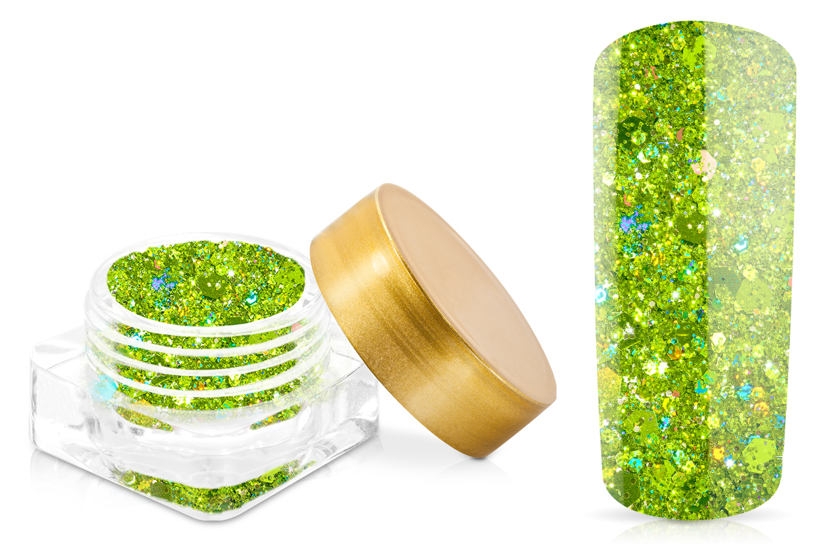 Jolifin Illusion Glitter II Grass Green