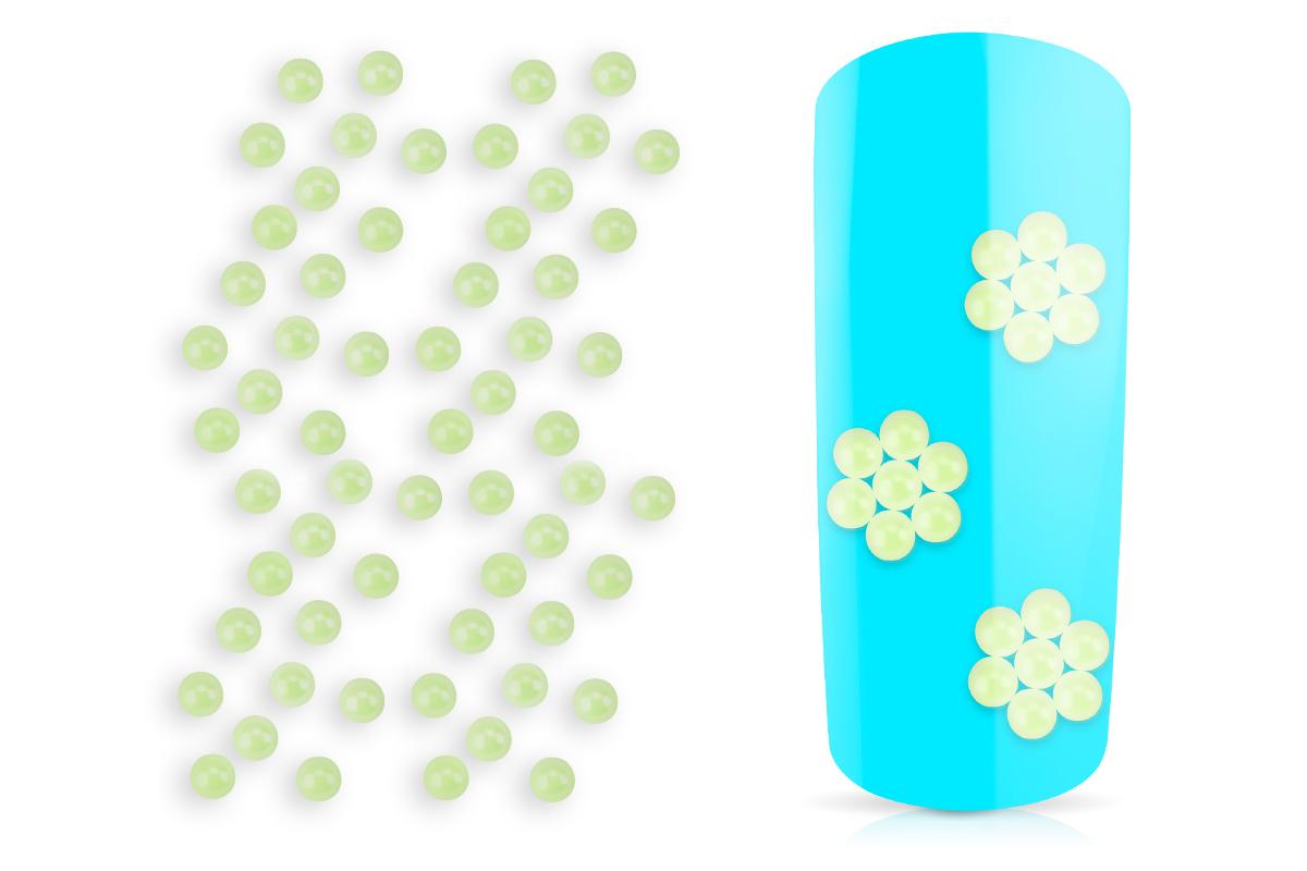 Jolifin Nailart Pearls light green