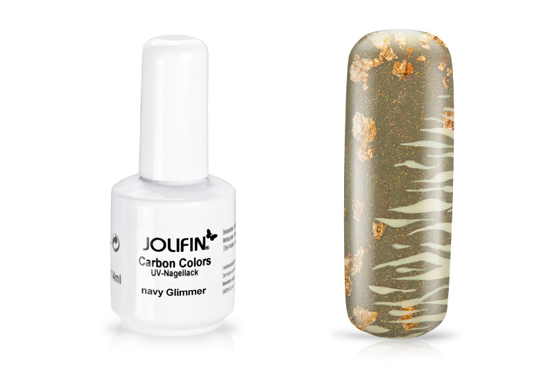 Jolifin Carbon Colors UV-Nagellack navy Glimmer 11ml