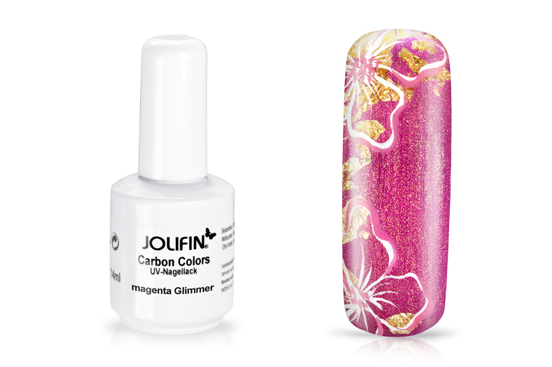 Jolifin Carbon Quick-Farbgel - magenta Glimmer 11ml