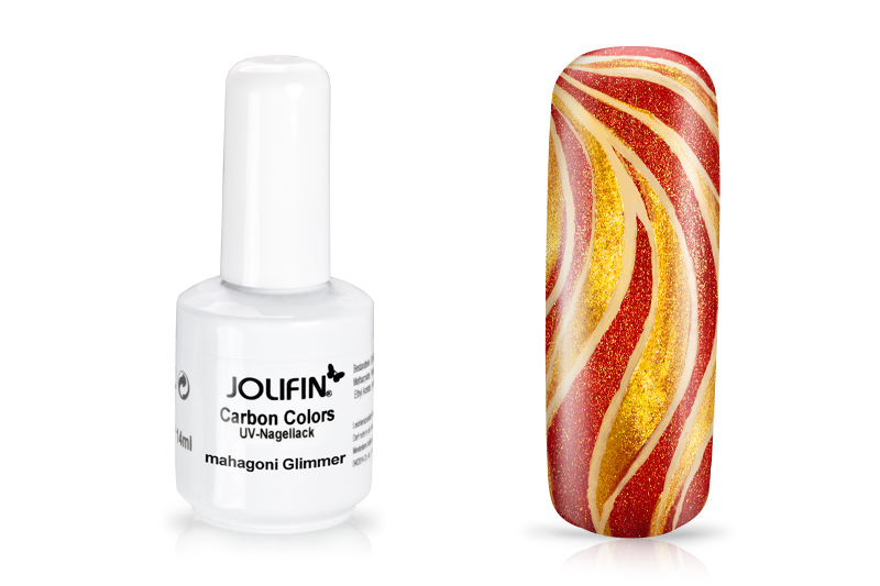 Jolifin Carbon Colors UV-Nagellack mahagoni Glimmer 11ml