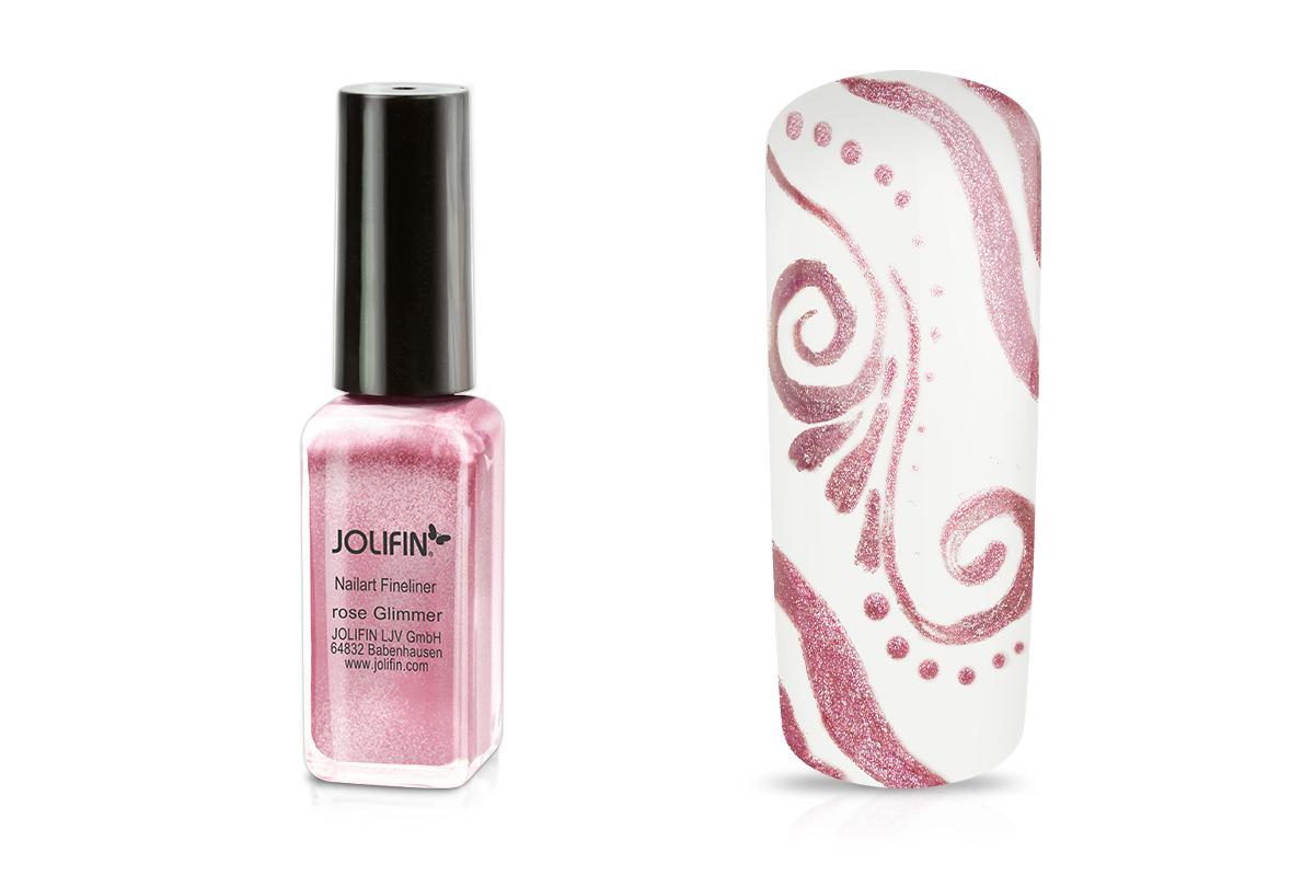 Jolifin Nailart Fineliner rose Glimmer 10ml