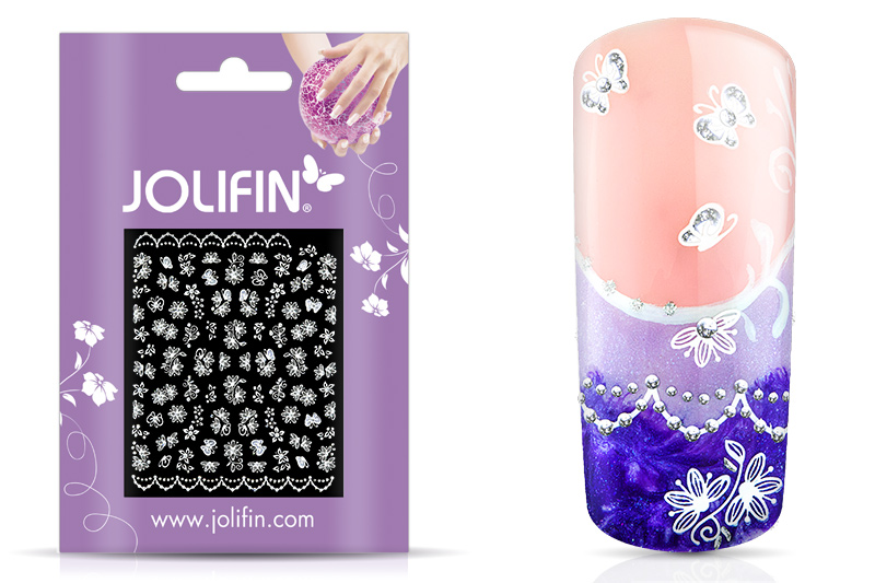 Jolifin White Romance Sticker 26