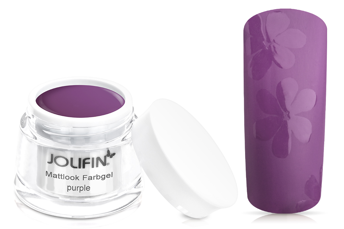 Jolifin Mattlook Farbgel purple 5ml