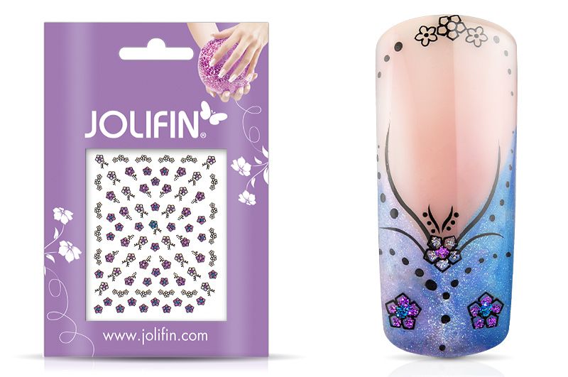 Jolifin Glitter Nailart Sticker 42