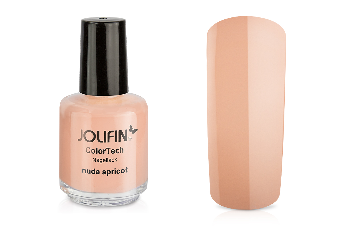 Jolifin ColorTech Nagellack nude apricot 14ml - Pretty Nail Shop 24