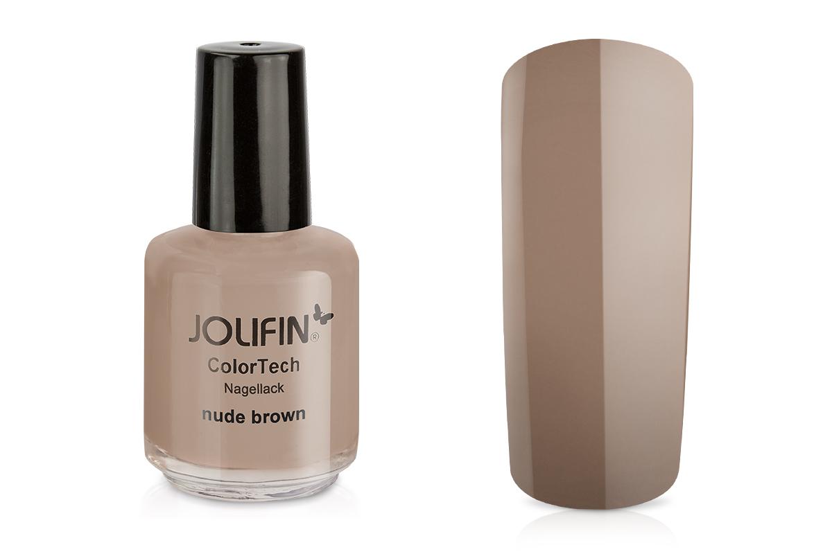 Jolifin ColorTech Nagellack nude brown 14ml