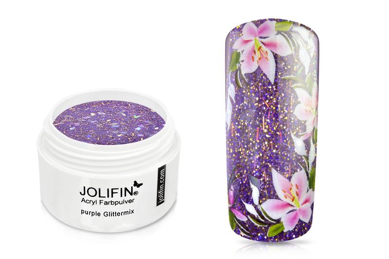 Jolifin Acryl Farbpulver purple Glittermix 5g