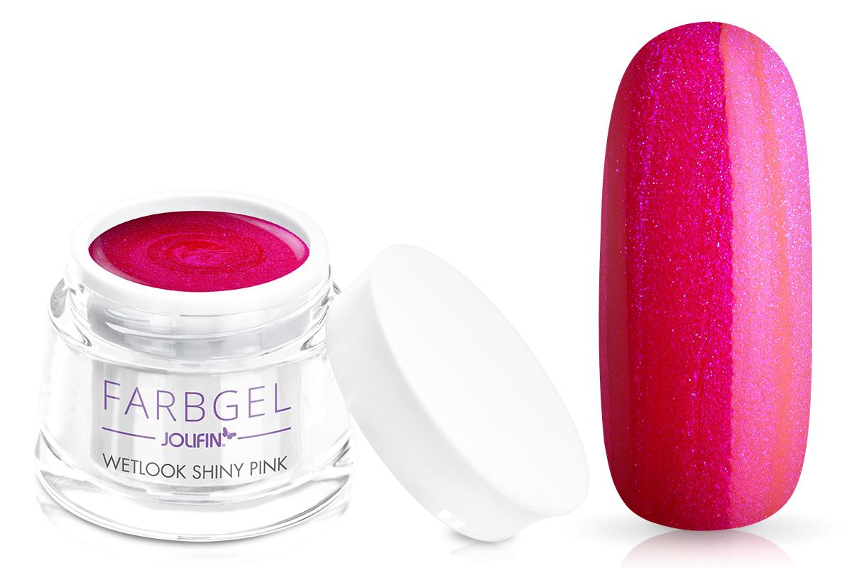Jolifin Wetlook Farbgel shiny pink 5ml