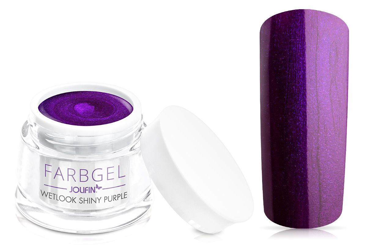 Jolifin Wetlook Farbgel 4plus shiny purple 5ml