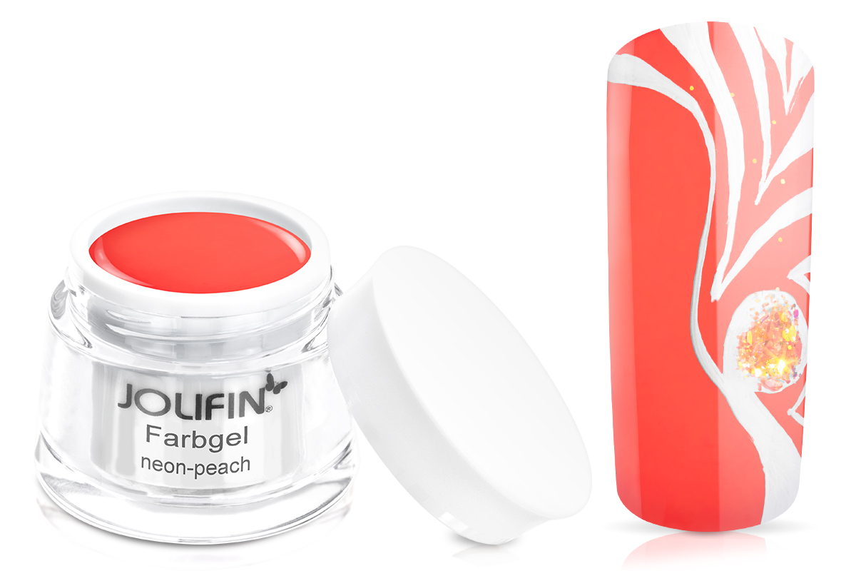 Jolifin Farbgel neon-peach 5ml