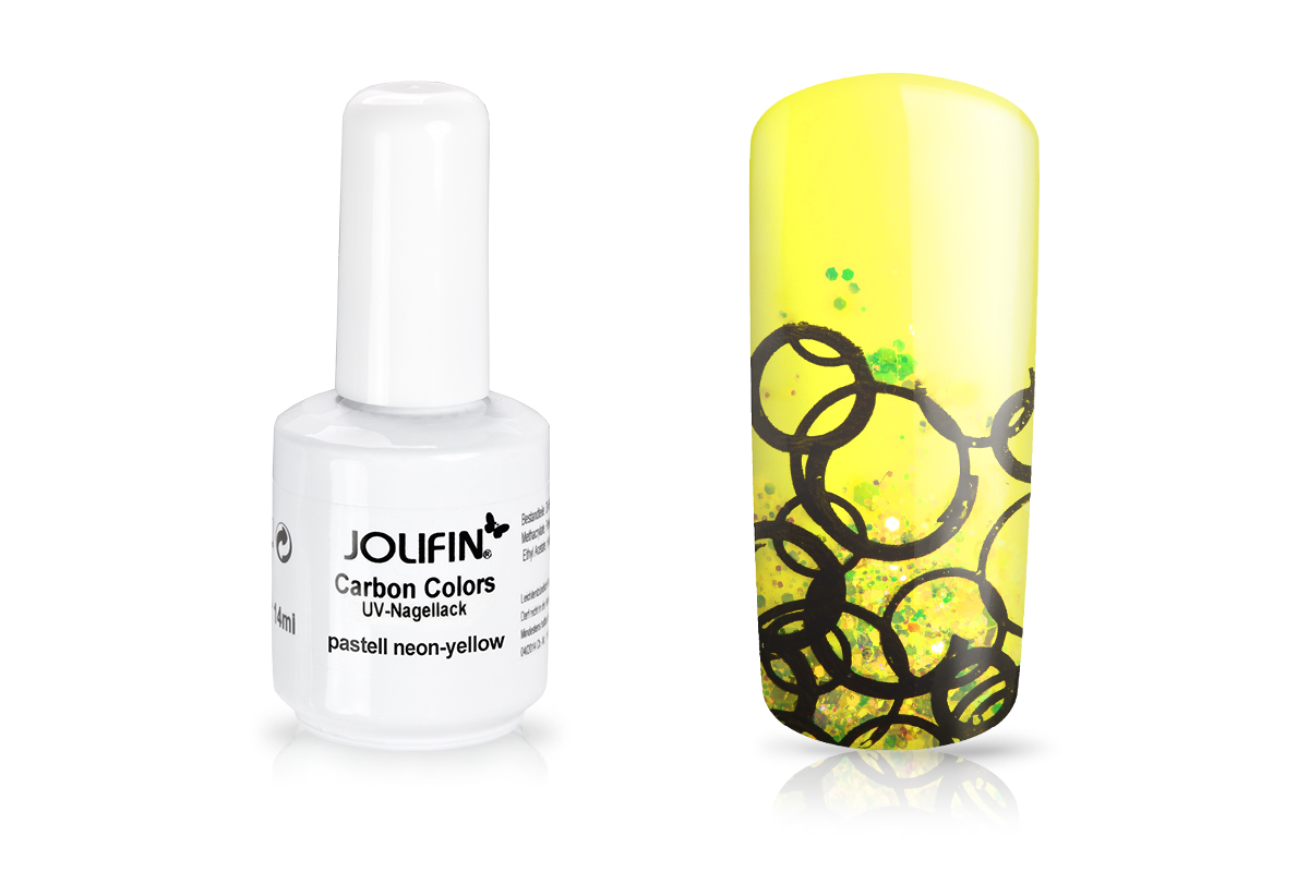 Jolifin Carbon Colors UV-Nagellack pastell neon-yellow 11ml