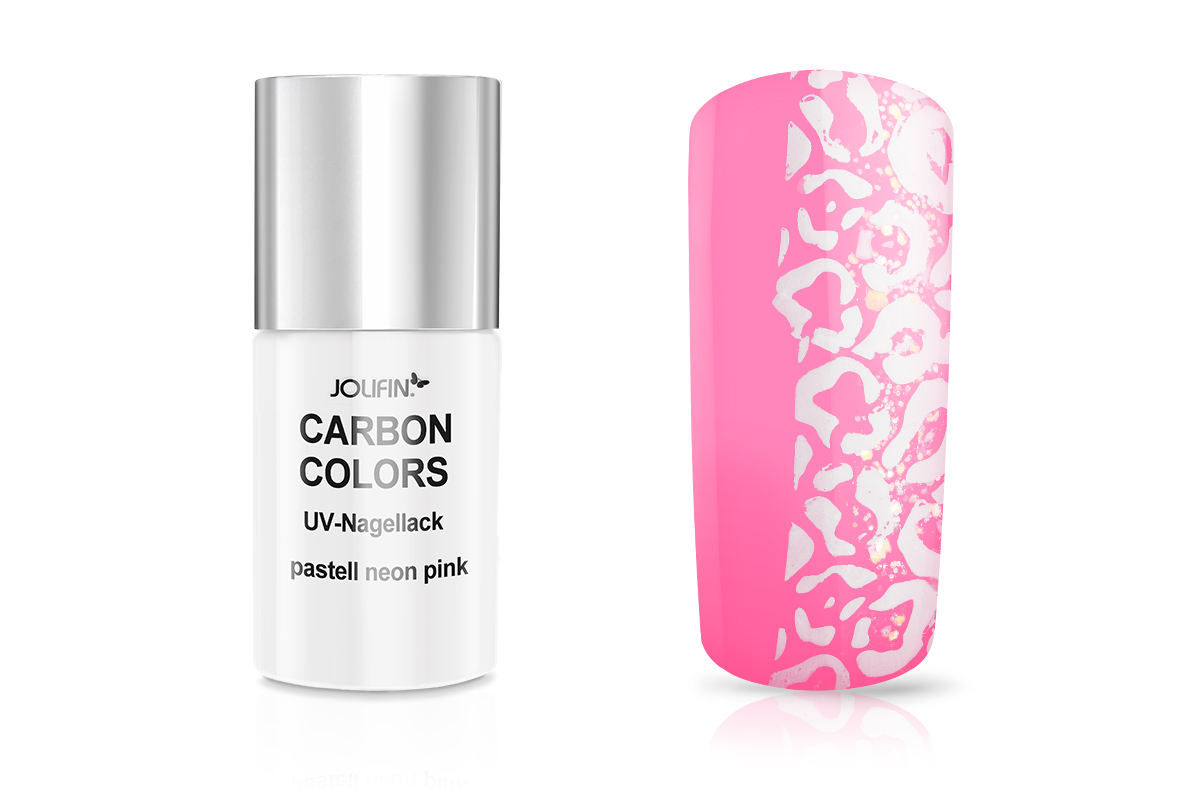 Jolifin Carbon Colors UV-Nagellack pastell neon-pink 11ml