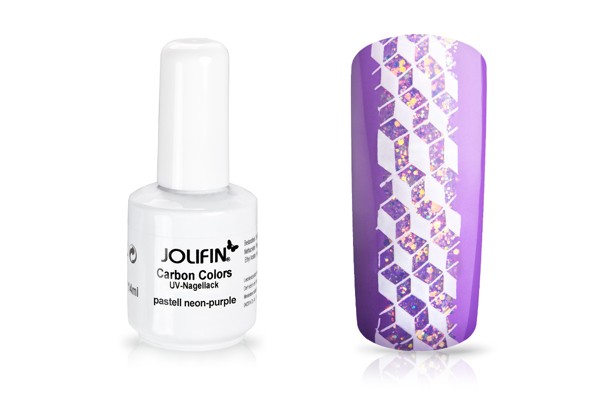 Jolifin Carbon Colors UV-Nagellack pastell neon-purple 14ml