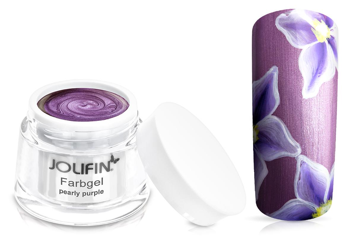 Jolifin Farbgel pearly purple 5ml