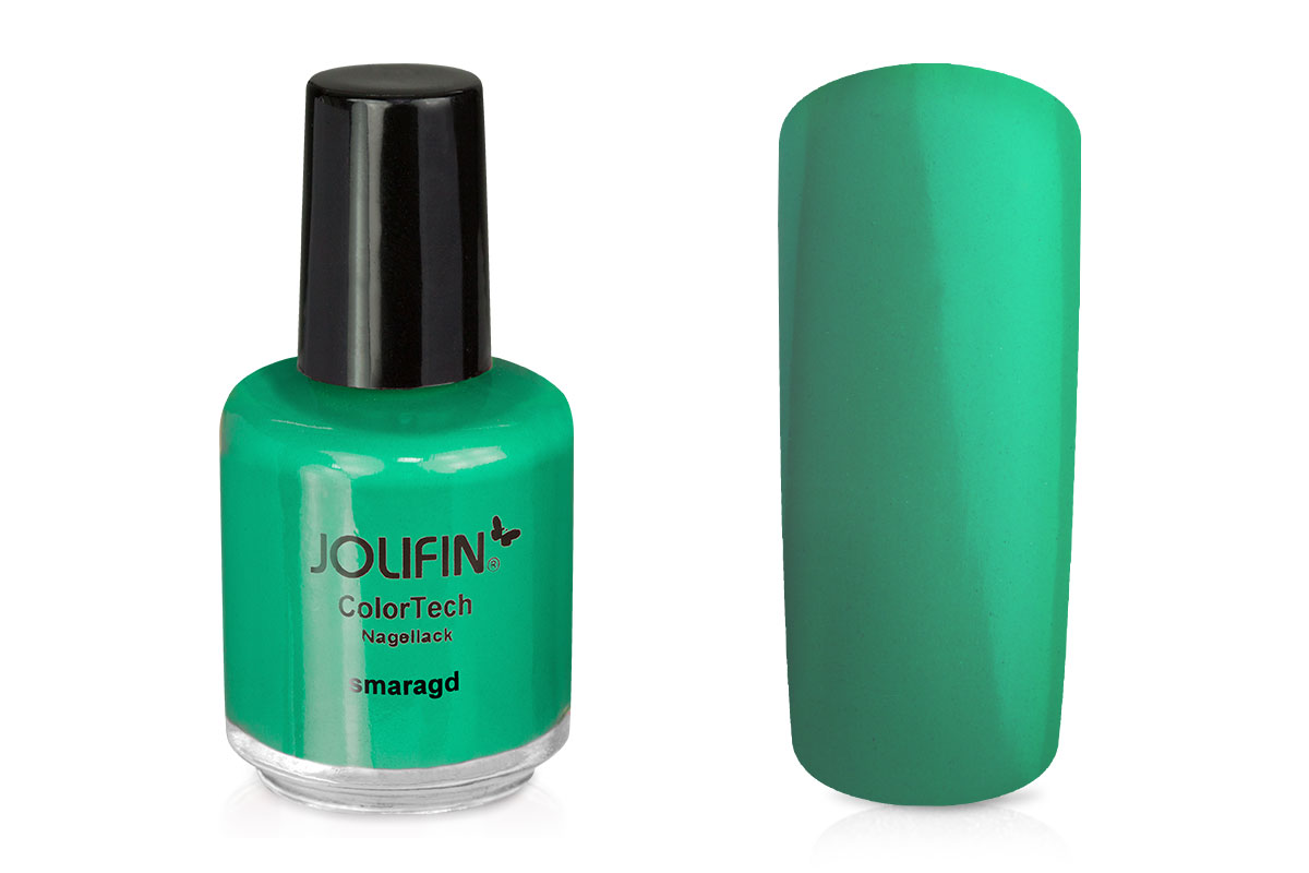 Jolifin ColorTech Nagellack smaragd 14ml