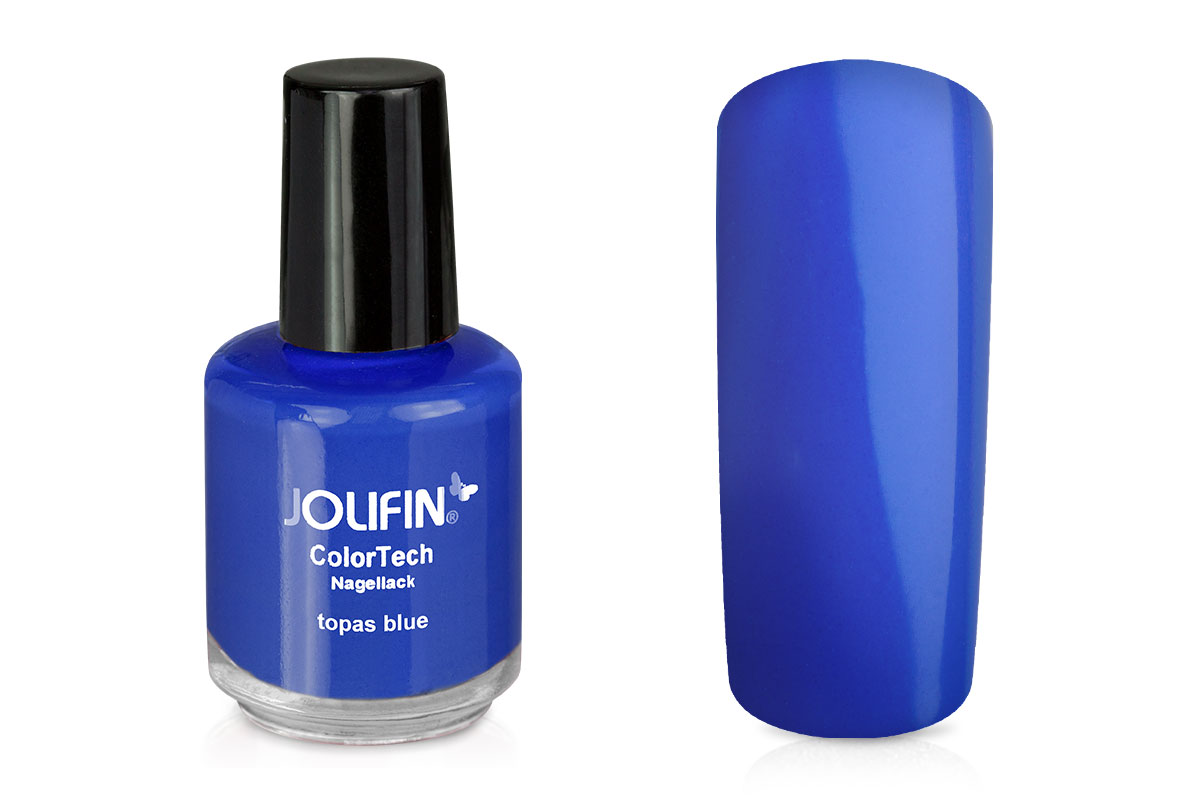 Jolifin ColorTech Nagellack topas blue 14ml