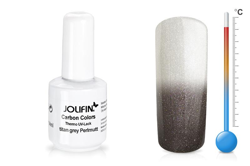 Jolifin Carbon Quick-Farbgel Thermo titan grey perlmutt 11ml