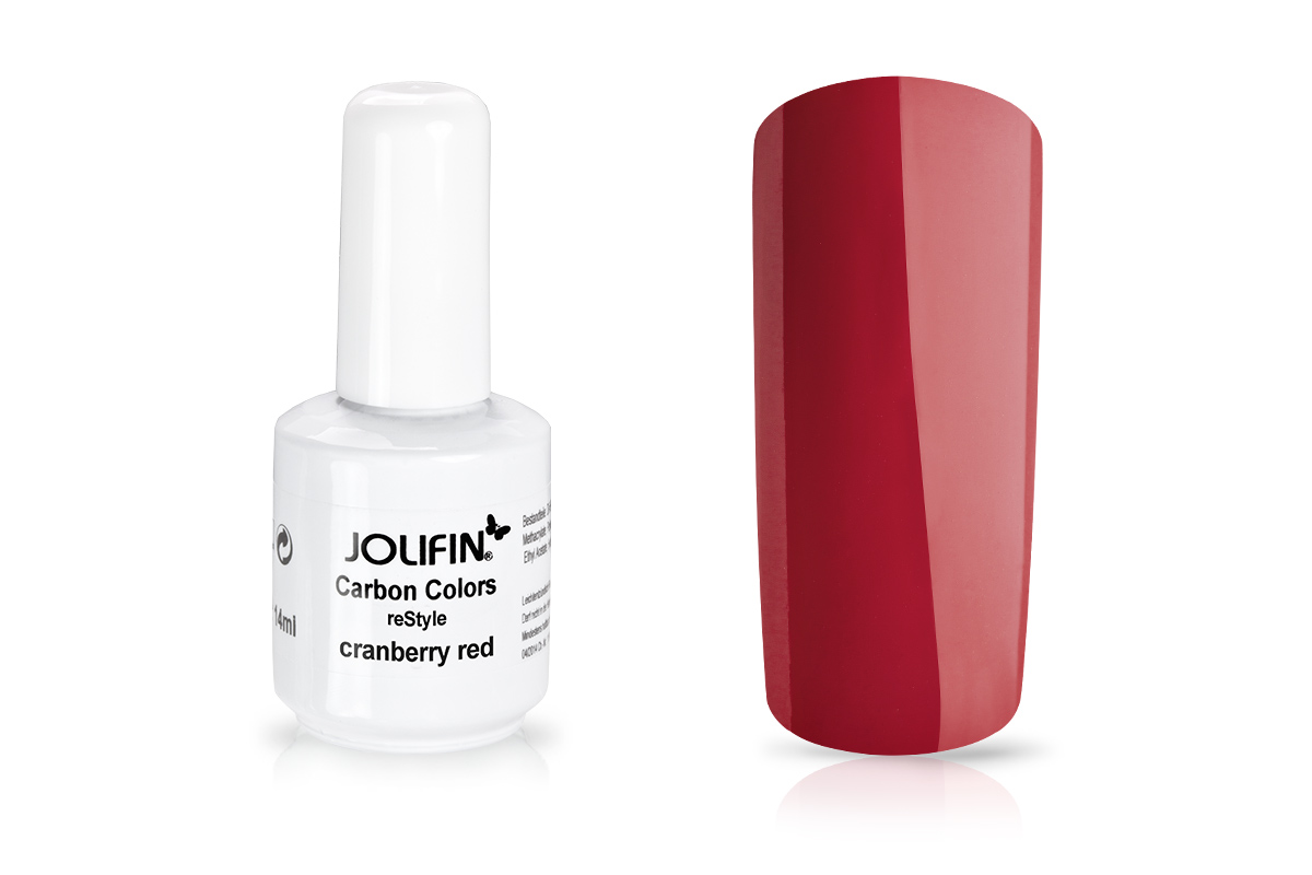 Jolifin Carbon reStyle - cranberry red 11ml