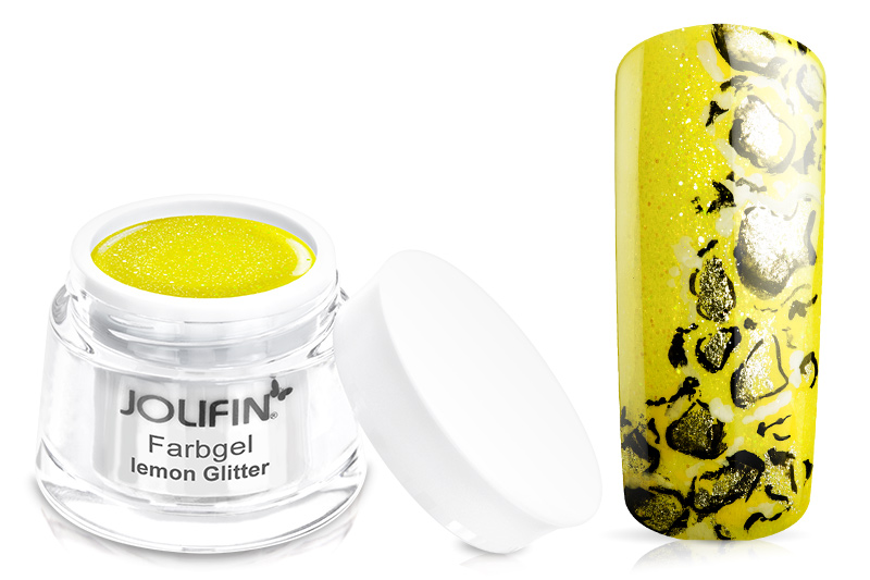 Jolifin Farbgel lemon Glitter 5ml