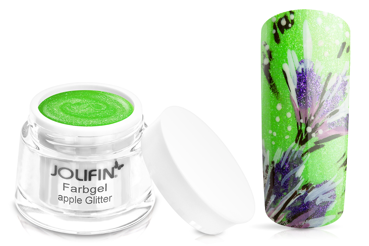 Jolifin Farbgel apple Glitter 5ml