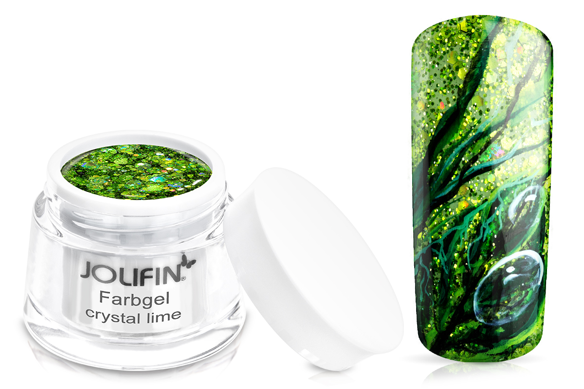 Jolifin Farbgel crystal lime 5ml