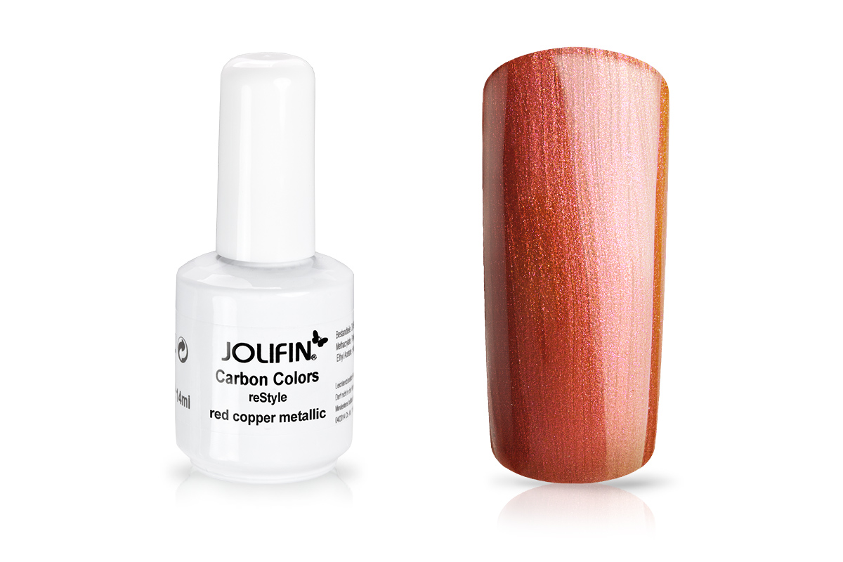 Jolifin Carbon reStyle - red copper metallic 14ml