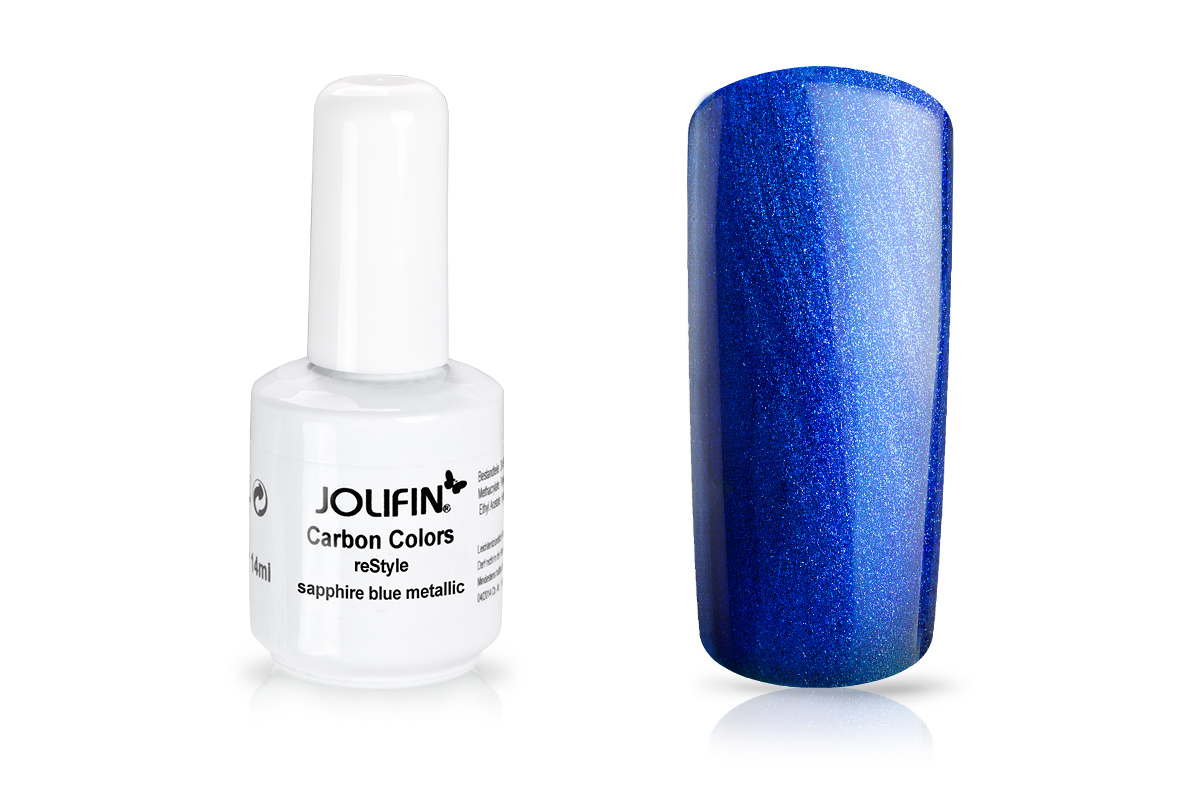 Jolifin Carbon reStyle - sapphire blue metallic 14ml