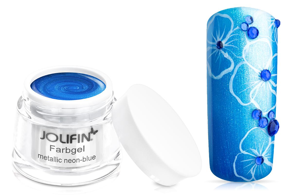 Jolifin Farbgel metallic neon-blue 5ml