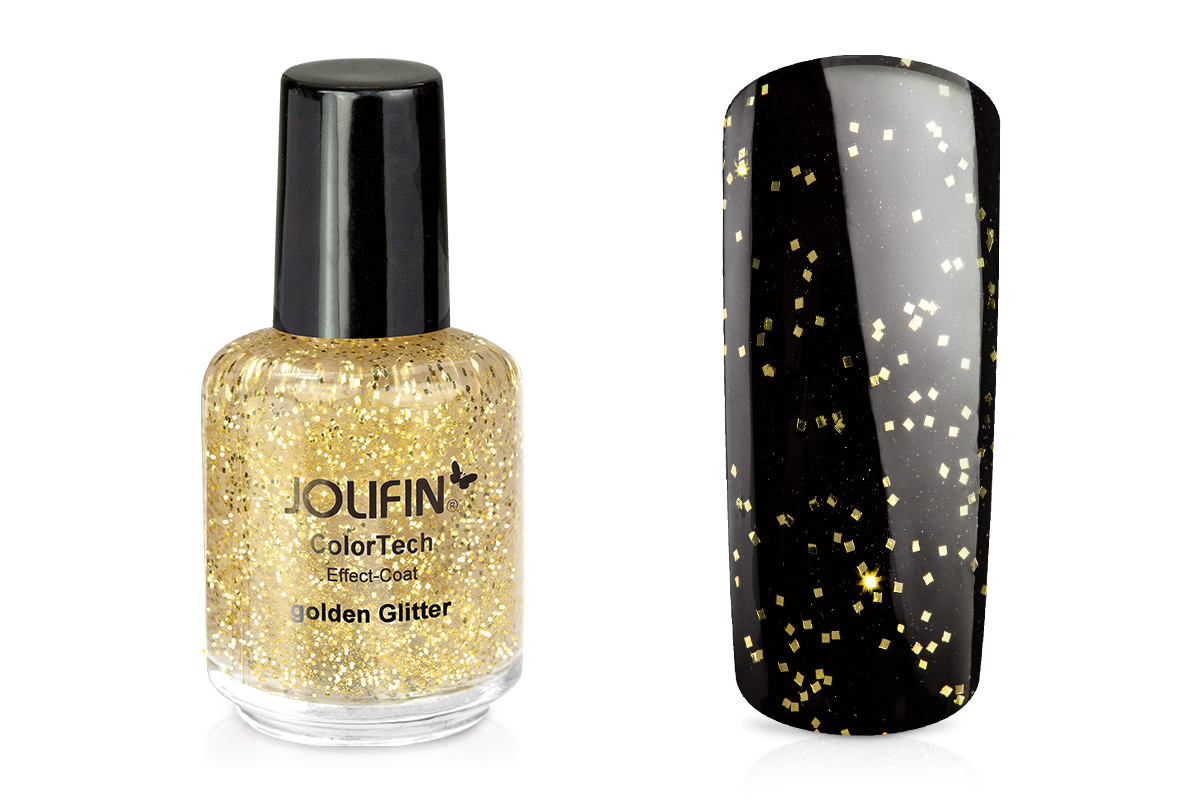 Jolifin ColorTech Effect-Coat golden Glitter 14ml