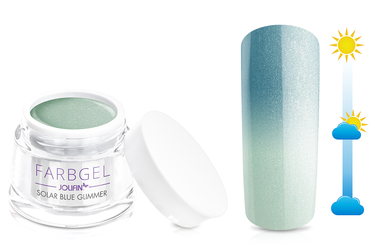 Jolifin Solar Farbgel blue Glimmer 5ml