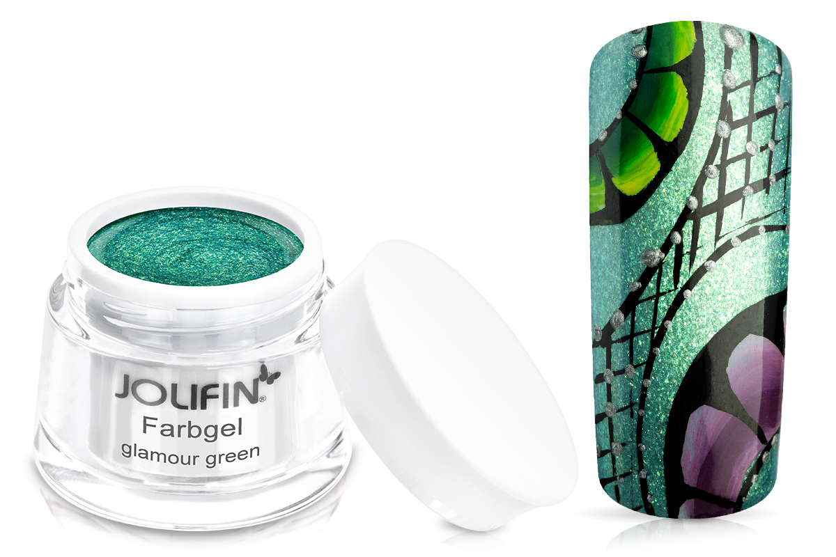Jolifin Farbgel glamour green 5ml